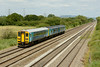 25 June 2014 :: Passing Coedkernew is Arriva Trains liveried 153353 with 2N19 the 14.35 from Cardiff Central to Ebbw Vale