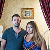 140627 JOED VIERA/STAFF PHOTOGRAPHER-Lockport, NY-James and Maria Updegraph stand in the parlor of thier home on Spalding Street.