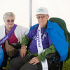 140614 Relay JOED VIERA/STAFF PHOTOGRAPHER-Lockport, NY-Wife and husband of 61 years Caregiver Janet Sechler and Prostate cancer survivor Merle Sechler sit in the survivor tent at the Relay for Life at Emmet Belknap. June 14, 2014