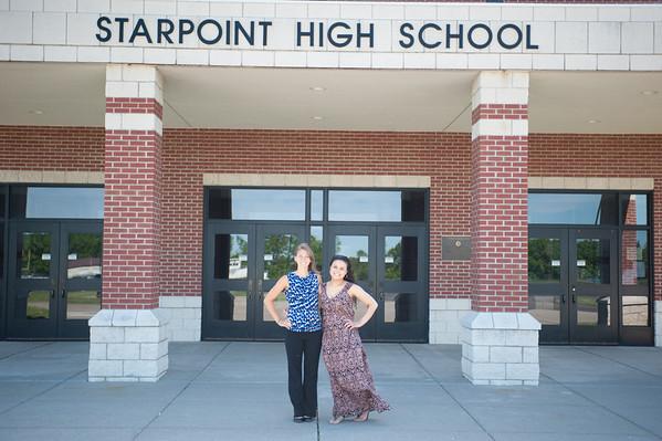 140602 Starpoint Val Sal JOED VIERA/STAFF PHOTOGRAPHER-Pendleton, NY- Kelsey Jaynes and Elisabeth Winston. June 6, 2014.