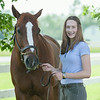 140618 JOED VIERA/STAFF PHOTOGRAPHER-Middleport, NY-Alissa Zwelling stands with her horse Charlotte. June 18, 2014