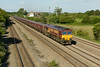 25 June 2014 :: 66012 in the early evening sunshine at Undy with 6B77 coal from Avonmouth to Aberthaw