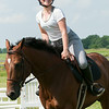 140618 JOED VIERA/STAFF PHOTOGRAPHER-Middleport, NY-Ally Miles rides her horse Abbie . June 18, 2014