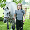 140618 JOED VIERA/STAFF PHOTOGRAPHER-Middleport, NY-Madeline Keys stands with her horse Regis. June 18, 2014