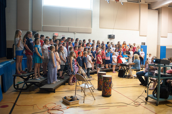 140611 Time Capsule JOED VIERA/STAFF PHOTOGRAPHER-Ransomville, NY-A chorus of students sing at W.H. Stevenson June 11, 2014