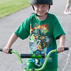 140609 Bike safety JOED VIERA/STAFF PHOTOGRAPHER-Lockport, NY- Logan Collins 7 rides his bike along an obstacle course during a bike safety event at Day Road Park. June 9, 2014