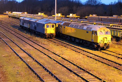 57305 & 73119 & 73205 seen at Tonbridge Yard.