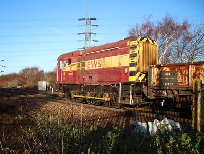 08799 shunting some wagons at Hoo Jct.