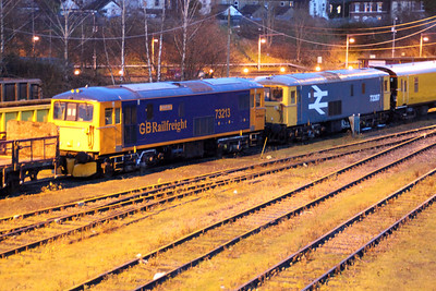 73213 and 73207 seen at Tonbridge Yard.