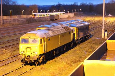 57305 and 73136 seen at Tonbridge Yard.