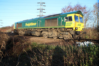 66596 seen moving in/out of the yard at Hoo Jct.