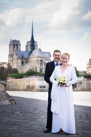 Kerry & Tim Paris wedding