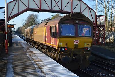 66134 1219 Knottingley-Milford passes Knottingley.