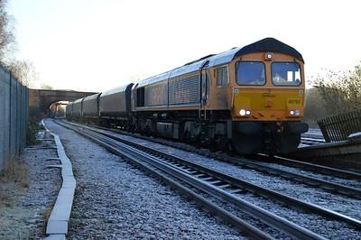 66762 0918/vstp Drax-Tyne Dock passes Knottingley.