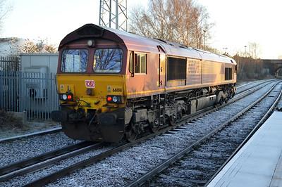 66108 0858 Milford-Knottingley passes Knottingley station.