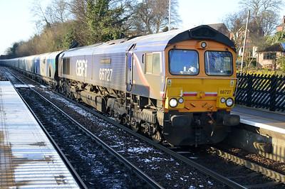 66727 1305/6H30 Tyne Dock-Drax passes Knottingley.