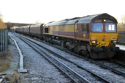 66007 0923/4n16 Drax-Redcar passes Knottingley.