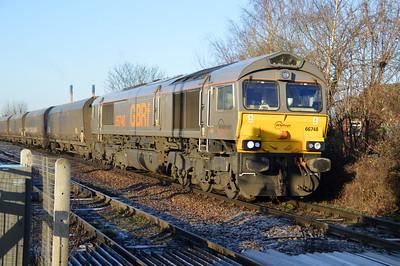 66748 1010/6H12 Tyne Dock-Drax passes England Lane Crossing.