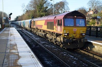 66137 1232/6H84 Hull-Drax passes Knottingley.