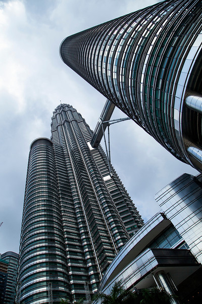 We spent several days in Malaysia, but the only time I pulled out the camera was at the Petronas Towers in Kuala Lumpur. Unfortunately the tickets to go up for a view of the city were sold out for the day, so this is all I got.