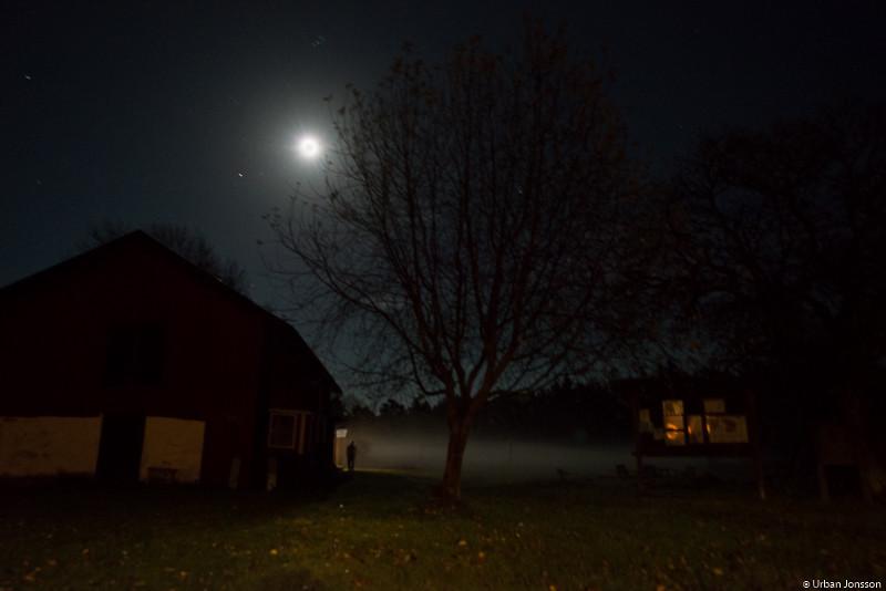 Efter lite andhämtning blev det nattpromenad till bastun.