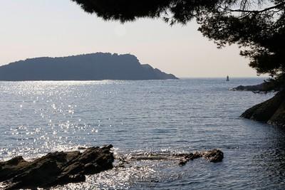 Ile Verte vue de la plage