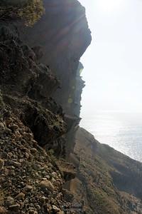 Belvédère côté mer, contre jour le bas du bec du l'Aigle