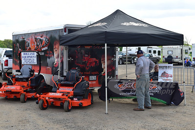 Bad Boy Mowers display @ LaSalle Speedway