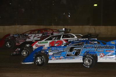B5 Brandon Sheppard, b12 Kevin Weaver and 32 Bobby Pierce