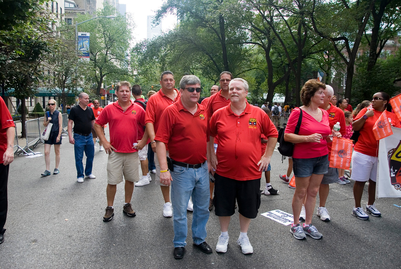 1101 Secretary/Treasurer Kevin Condy (front left) and President Keith Purce. VP Al Russo ( back center).