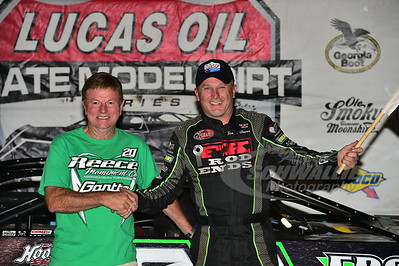Jimmy Owens in Victory Lane with car owner - Mike Reece