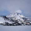 Lassen Peak through the clouds