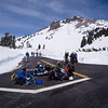 Lunch at the summit parking