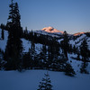 Sun setting on Lassen Peak