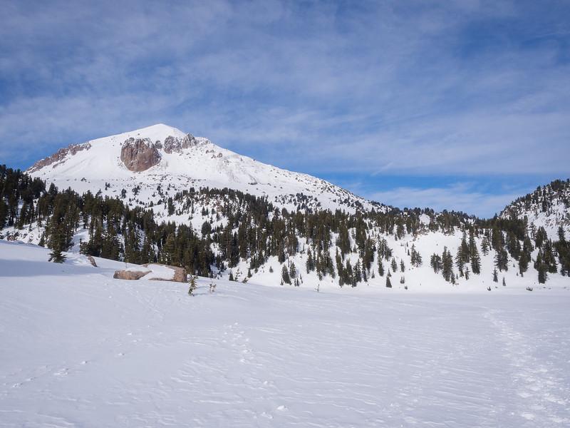 Lassen Peak across Helen Lake