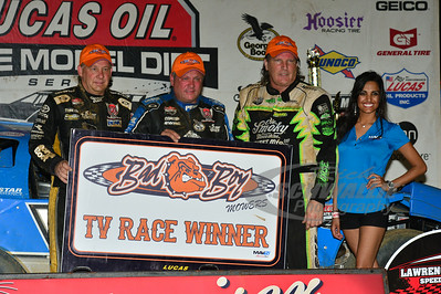 Top 3 in Victory Lane - Steve Francis, Don O'Neal and Scott Bloomquist