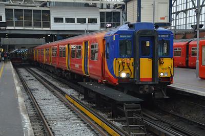 Class 455/8 5857 at London Waterloo.
