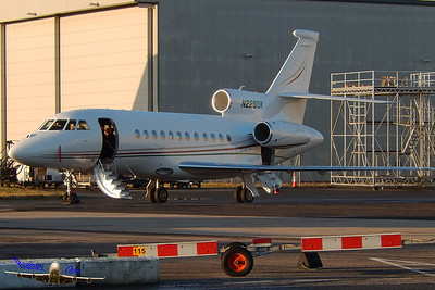 Dassault Falcon 900EX N229DK sitting on the Inflite Apron getting ready to go.