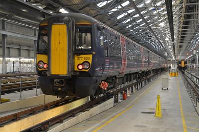 377520 seen inside Selhurst Depot.