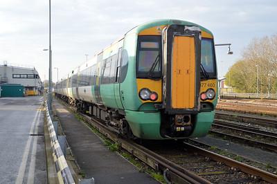 377460 seen at Selhurst Depot.
