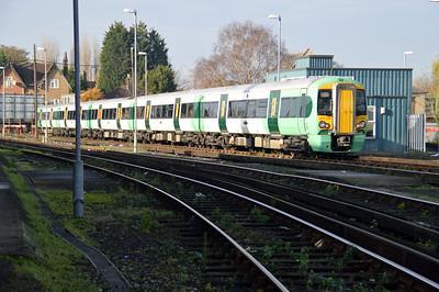 377701 seen outside Selhurst Depot.