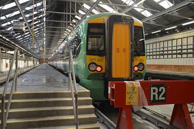 377423 seen inside Selhurst Depot.