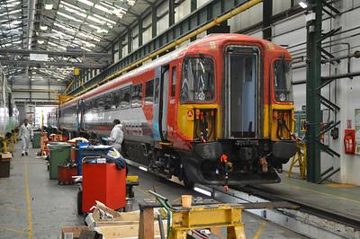 422401 seen inside Selhurst Depot.