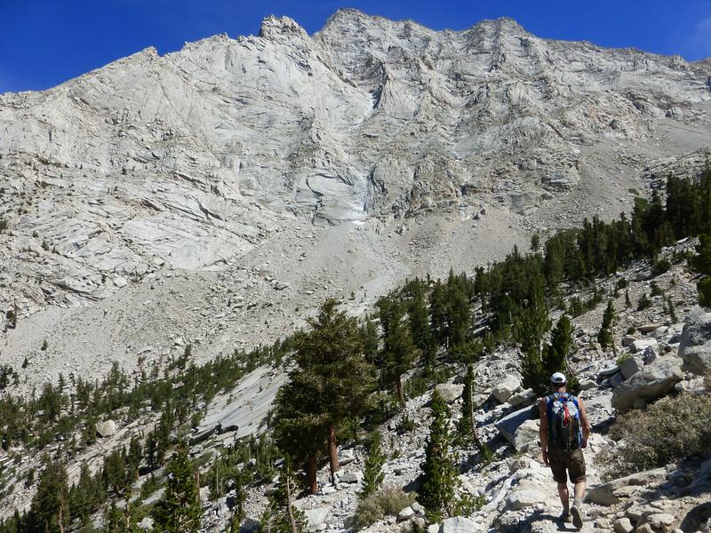 North Ridge of Lone Pine Peak above the Meysan trail area