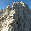 The granite blades....huge!<br /> We climbed up the ridge to the right of the blades