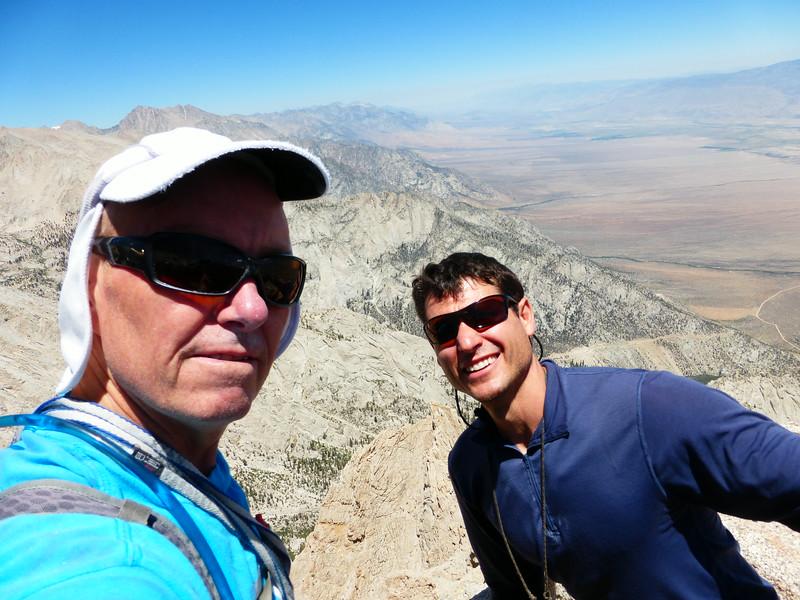 Rick & Ryan on Lone Pine Peak summit
