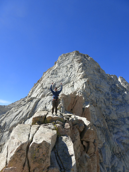 Ryan on the knife-edge ridgeline