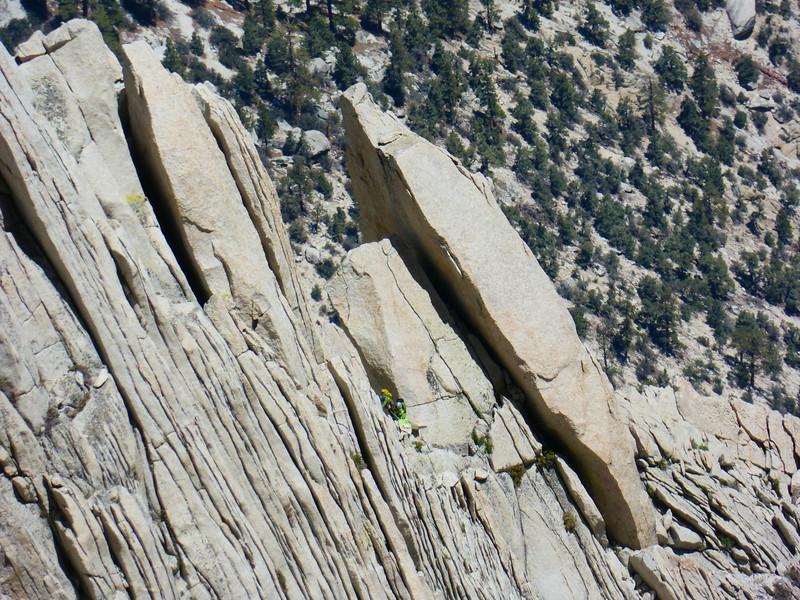 Climber near the Granite Blades