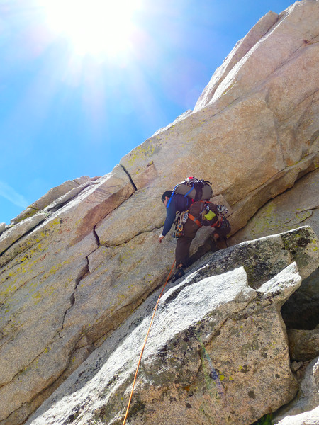 Ryan starting the zig-zag crack. Looks pretty tough for a 5.5 crack, but it's easier that it looks