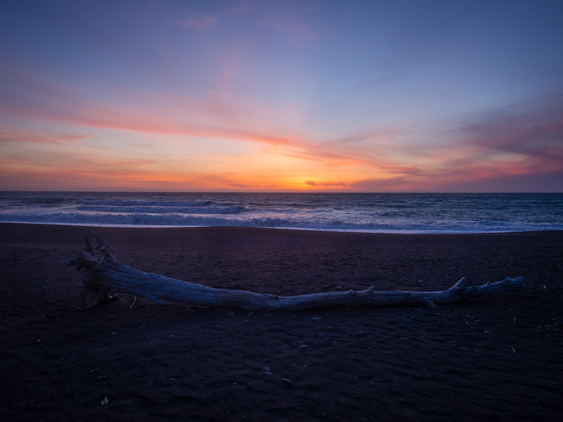 Sunset on Mattole Beach